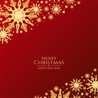 Roter Hintergrund der abstrakten frohen Weihnachten mit Schneeflocken
