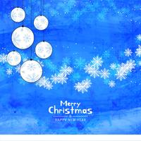 Abstract Merry Christmas blue color background