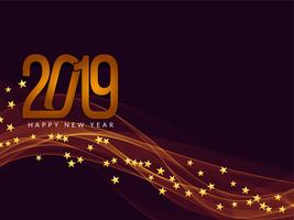 Happy New Year 2019 greeting background vector