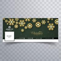 Mooie vrolijke Kerstmissneeuwvlok met facebook bannertempla