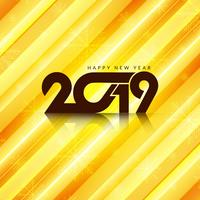Felice anno nuovo sfondo elegante 2019