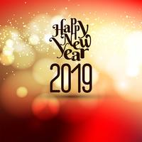 Abstract New Year 2019 celebration background vector