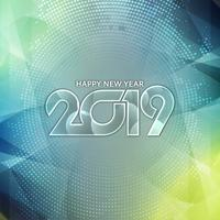 Abstract modern New Year 2019 decorative background vector