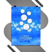Frohe Weihnachten Feier Broschüre Vorlage