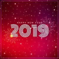 Elegant Happy New Year 2019 greeting background vector