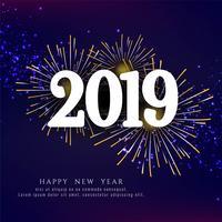 Fondo de saludo con estilo año nuevo 2019