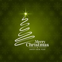 Abstract Merry Christmas festival greeting background vector