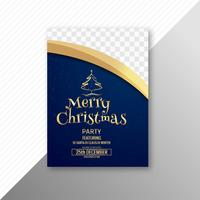 Beautiful merry christmas card template brochure design