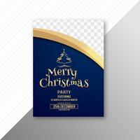 Beautiful merry christmas card template brochure design