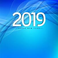 Abstract stylish  New Year 2019 greeting background vector