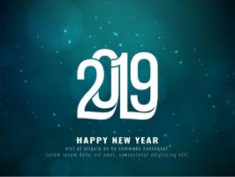 Happy New Year 2019 greeting background