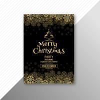 Beau modèle de festival joyeux Noël flyer design