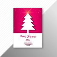 Den härliga festivalen glatt jul flygblad mall design