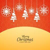 Fundo decorativo elegante de feliz Natal abstrata