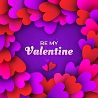 Valentinstag Rahmen Vektor