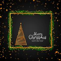 Abstract Merry Christmas stylish decorative background vector