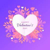 Día de san valentín marco vector