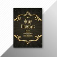 Beau design de brochure modèle joyeux Noël carte