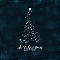 Stilvoller Festivalgrußhintergrund der frohen Weihnachten