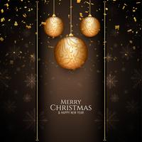 Abstract Merry Christmas stylish background