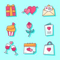 Valentinsdag Elements Set Vector