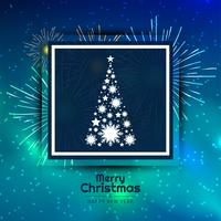 Abstract Merry Christmas decorative tree background