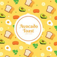 Avocado Toast Patroon Vector