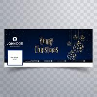Merry christmas ball facebook banner template background