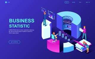 Business Statistic Web Banner vector