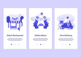 Online-Lebensmittelbestellung Mobile Apps Vector