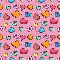 Valentine candy pattern vector