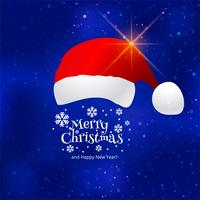 Beautiful merry christmas celebration card background