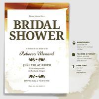 Brautdusche Einladungsvorlage