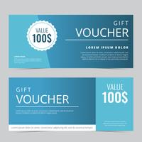 Gift Voucher Coupon Vector Template