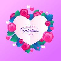 Valentinstag-Rahmen-Vektor