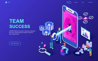 equipo web banner de éxito