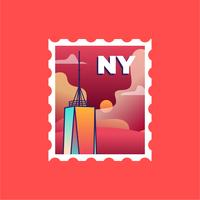 New York Tower Stamp
