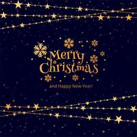 Beautiful merry christmas card background vector