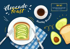 Illustration de toast à l'avocat