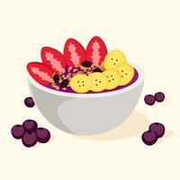 color acai bowl