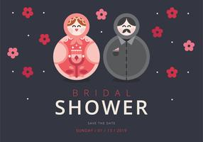 Bridal Shower Invitation Scandinavian Style Matryoshka Figure