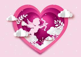 Vecteur d'amour de Cupidon