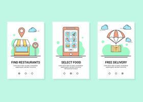 Vector de pedido de comida en línea