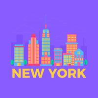 Illustration vectorielle de New York