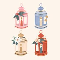 Vector Collection of Festive Lamps