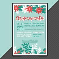 Vector Kerstmarkt Poster