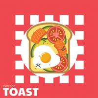 Avocado Toast Vector Design