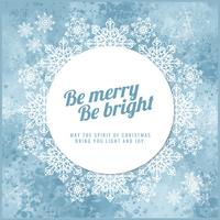 Vector Winter Snowflakes Background