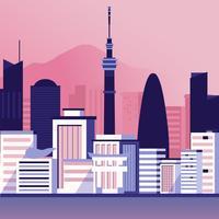 Tokyo Skyline vectorillustratie