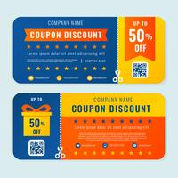 Coupon korting sjabloon Vector